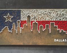 Wood pallet nail string art texas flag diy crafts pinterest custom dallas skyline string art texas by cactuscustomdesigns would be nice to find the san antonio skyline prinsesfo Image collections