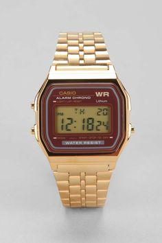 Casio Classic Gold & Red Watch