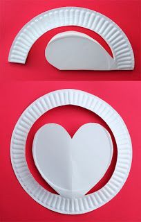 This would make a cute valentine from teacher to students, using a small plate.