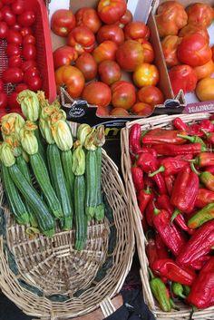 étalage de légumes au marché Campo dei fiori à #Rome