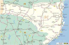 Playas de Brasil: Mapa rutero de Santa Catarina (Brasil)