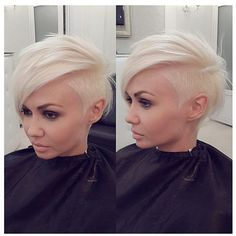 40 Stunning Edgy Haircuts Ideas For Your Inspiration Shaved Side Hairstyles, Pretty Hairstyles, Undercut Hairstyles, Funky Hairstyles, Shaved Side Haircut, Woman Hairstyles, Female Hairstyles, Blonde Hairstyles, Hairstyle Ideas