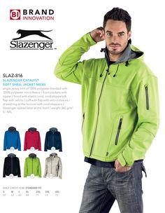 Slazenger Soft Shell Jacket for men Brand Innovation, Corporate Outfits, South Africa, Work Wear, Zipper, Shell, Jackets, How To Wear, Men