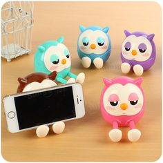Owl Phone Stand | ... Lovely Owl Multi-function Mobile Phone Stents Stand Holder Piggy Bank
