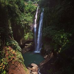 Aling-Aling waterfall in Buleleng Source: thanks to Денис Кочетов for photo. Bali Waterfalls, Landscapes, Merry, Earth, Island, Adventure, World, Places, Travel