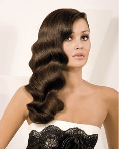 I love the vintage wave hairstyle, and its even more luxurious on long hair.