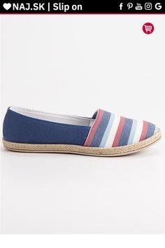 Pruhované modré slip on Sweet Shoes Espadrilles, Slip On, Sweet, Fashion, Espadrilles Outfit, Candy, Moda, Fashion Styles, Fashion Illustrations