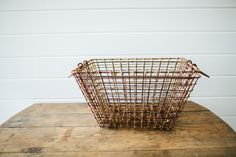 Antique Iron Basket