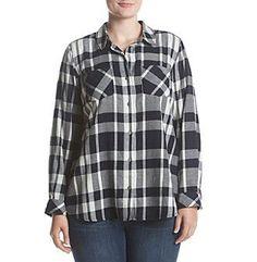 Ruff Hewn Plus Size Splitback Flannel