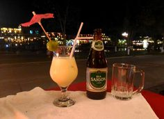 Things to do in Hoi An Vietnam - drinks by the river