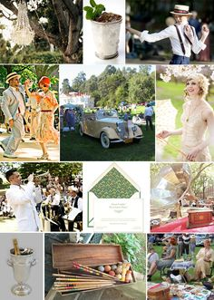 Gatsby Lawn Party - Gatsby Lawn Party Decide on a yard party. Best Picture For palette decoration Party Like Gatsby, Roaring 20s Party, 1920s Party, Great Gatsby Wedding, Gatsby Theme, 1920s Wedding, Gatsby Style, Roaring Twenties, Trendy Wedding
