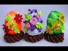 "Писанка ""Сакура"" канзаши. Пасхальное яйцо ""Сакура"" своими руками. Easter egg kanzashi - YouTube"