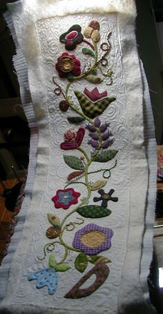 "Free form needleturn and embroidery -- free motion quilting attempting ""my"" Judi Madsen style . . .  long way to go!!!"