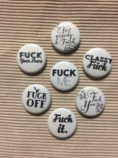 A great Mature collection of Fck one inch pinback by DoodleButton