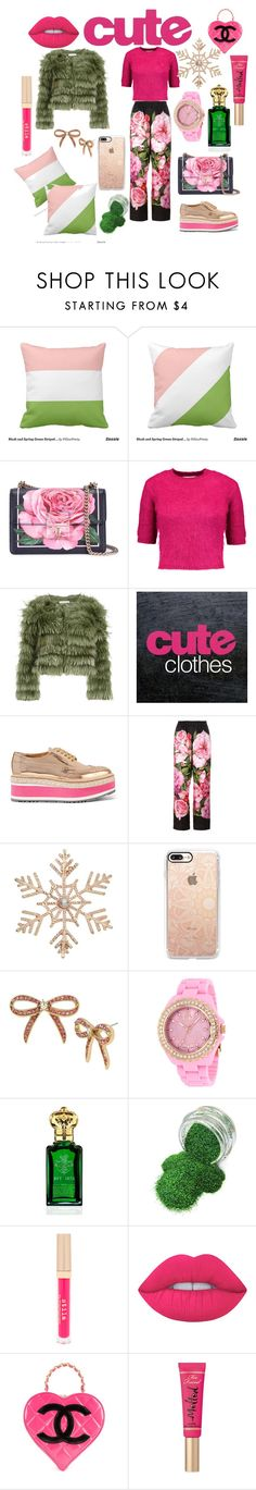 """Untitled #345"" by jennvsjewels ❤ liked on Polyvore featuring Dolce&Gabbana, Carven, Alice + Olivia, J Brand, Prada, John Lewis, Casetify, Betsey Johnson, Jivago and Clive Christian"