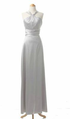 Satin Silver Bridesmaid Dresses