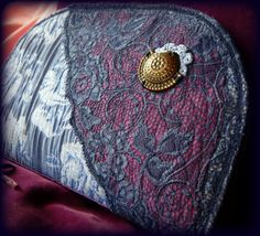 Handmade by Judy Majoros - Fringe wallet-clutch with rose decorations, and lace and leather fringe. Rose Decor, Bagan, Leather Fringe, Clutch Wallet, Recycling, Decorations, Lace, Handmade, Hand Made