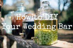 DIY Wedding Bar Ideas