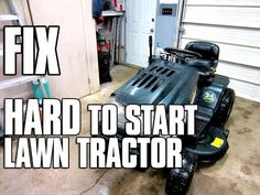 HOW-TO FIX A HARD TO START Lawn Tractor with OHV Briggs Engine - MUST SEE! - YouTube