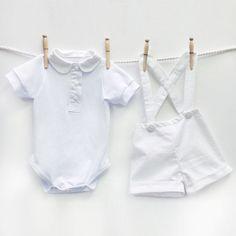 Bebé niño bautizo traje traje de bautismo de los por mabelretro