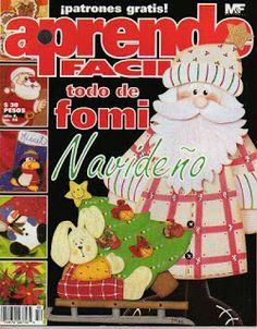 Blog de Santa clauss: MANUALIDADES EN FOAMI PARA NAVIDAD Christmas Holidays, Merry Christmas, Christmas Ornaments, Painted Books, Tole Painting, Clip Art, Holiday Decor, Blog, Magazine