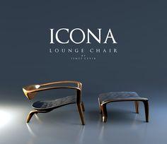 Icona Lounge: a designer chair Ismet Cevik - Hello Design Mag Steel Furniture, Home Decor Furniture, Unique Furniture, Furniture Design, Lounge Chair Design, Sofa Design, Furniture Inspiration, Decoration, Behance