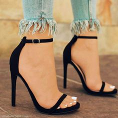 Your high heels questions answered. What is the difference between stilettos and high heels. Why are high heels called pumps. Does wearing high heels tone your legs. Can wearing heels cause hip pain High Heels Boots, Lace Up Heels, Black High Heels, Strap Heels, Ankle Strap, High Sandals, Heeled Sandals, Black Shoes, Beige Shoes