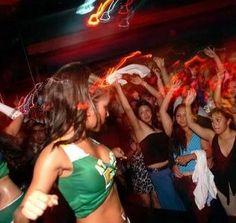 Dancing to reggaeton at Club Flow, San Juan