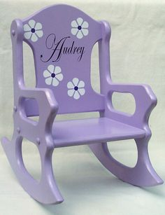 Child's Rocking Chair - Purple - Personalized