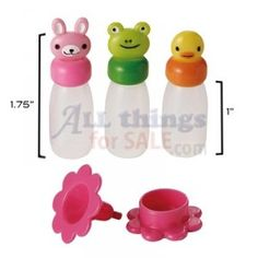 allthingsforsale.com has a lot of bento supplies, such as these cute little sauce bottles