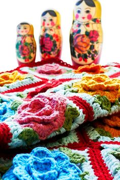 Crochet: Babouska Rose Blanket by Sewing Daisies.com.au, via Flickr