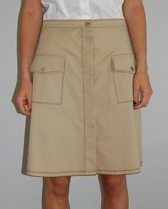 Two pocket skirt by Jil Sander, perfect for casual summer days