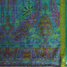 Vintage Indian Saree Zari Paisley Floral by TemplesTreasureTrove, $124.95