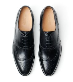 Adam Wingtip Oxford - Black Full Grain - Jack Erwin