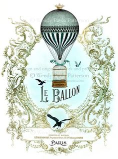 french hot air balloon - Google Search