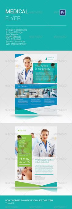 Dental Care / Medical Flyer | Dental Care, Flyer Template And Dental