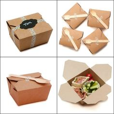 50 Kraft Lunch Party Food Boxes for Cakes by CandleAndCakeParty