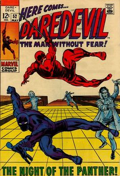 cover detached at bottom stapleDaredevil 52 Marvel 1969 FR GD Black Panther Roy Thomas Yellowjacket VisionCondition Fair ~ Good ; cover detached at bottom stapl Marvel Comics, Marvel Comic Books, Marvel Heroes, Comic Books Art, Comic Art, Book Art, Marvel Dc, Costume Rouge, Comic Book Collection