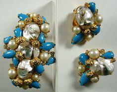 Signed Alice Caviness Bracelet and Earclips   eBay
