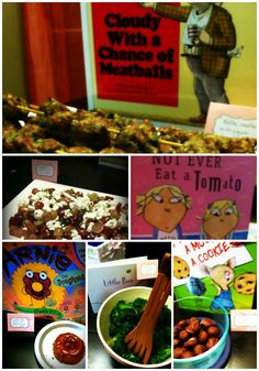 food based on children's books (baby shower or children's party)