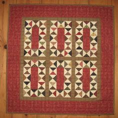 Stepping Stones...lovely little quilt that I think would look smashing in my entryway wall.