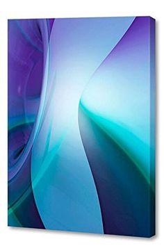 "@>>  Menaul Fine Art ""Sophie Blue"" Limited Edition Artwork, 30 x 45"", Light Blue/Blue/Green Purple"
