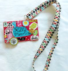 This is really fun!  make your own lanyard and nametag!  I have to do this!!!