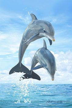 Many people are enthralled by and amazed at the variety of sea animals and sea creatures that can be found Dolphin Painting, Dolphin Art, Photo Dauphin, Cute Baby Animals, Animals And Pets, Strange Animals, Beautiful Creatures, Animals Beautiful, Dolphin Photos