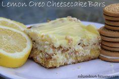 Lemon Oreo Cheesecake Bars!!!!  YUM!