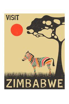 Visit Zimbabwe. #posters