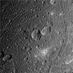 This raw, unprocessed image of Dione was taken on March 28, 2012 and received on Earth March 28, 2012. The camera was pointing toward Dione at approximately 44528 kilometers away.