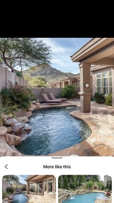 Backyard Pool Landscaping, Backyard Pool Designs, Small Backyard Pools, Swimming Pools Backyard, Swimming Pool Designs, Garden Pool, Pools For Small Yards, Living Pool, Pool Water Features