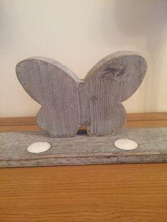 Shabby chic butterfly tea lighter.