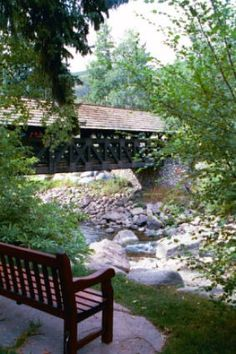 Creeks like we used to play in ( no, our Guardian Angel never got a break! Old Bridges, Famous Bridges, Vail Colorado, Colorado Homes, Unique Architecture, Covered Bridges, Before Us, Nature Scenes, Hot Springs